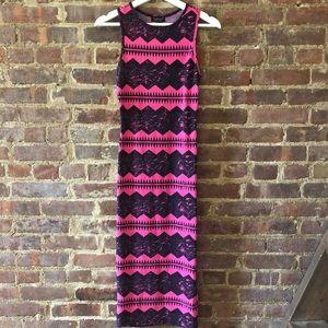 Topshop Hot Pink Maxi Dress